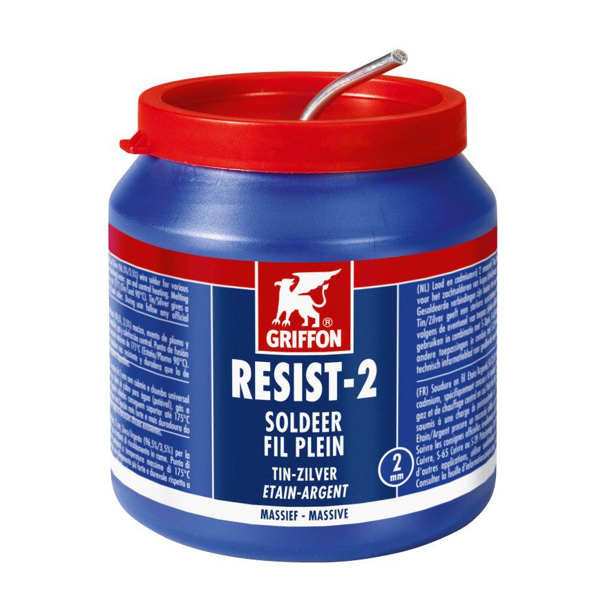 Griffon soldeertin, loodvrij, Resist-2, pot à 500 gram