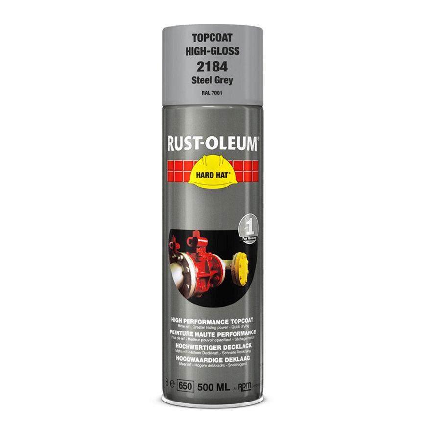 Rust-Oleum Hard Hat deklaag, hoogglans, staalgrijs, spuitbus à 500 ml  default 870x870