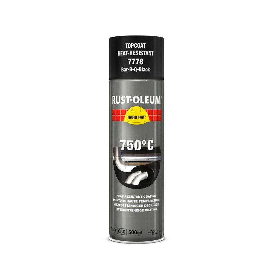 Rust-Oleum Hard Hat hittebestendig coating tot 750 °C, zwart, spuitbus à 500 ml  default 870x870