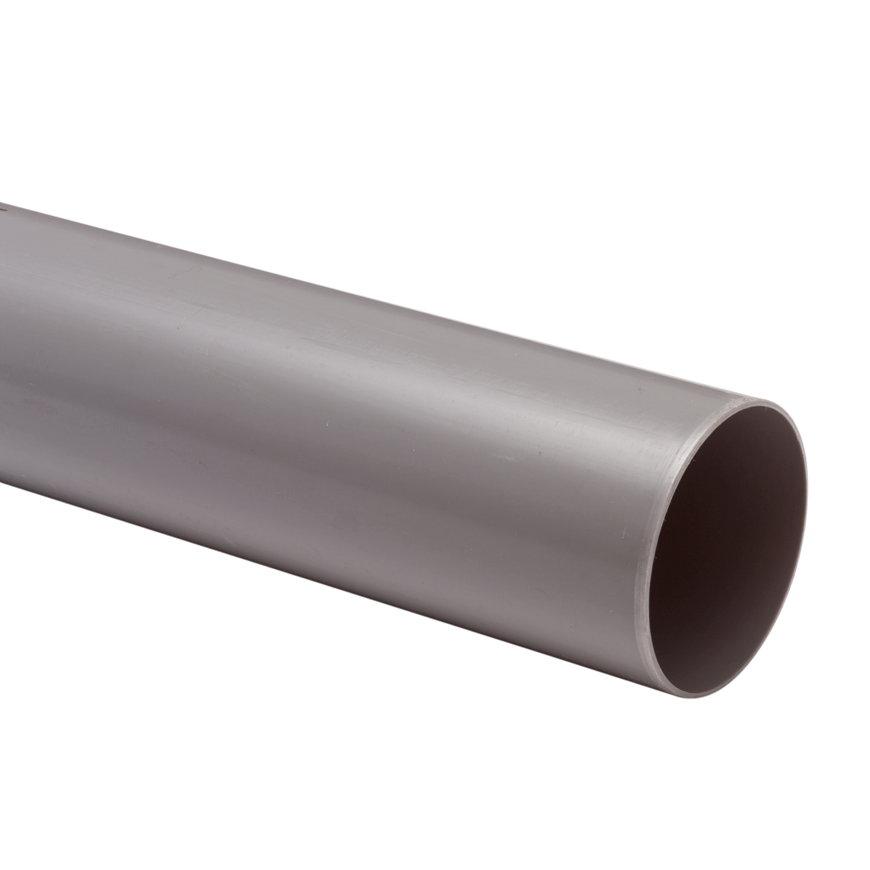 Hwa buis, pvc, KOMO, grijs, 80 x 1,5 mm, l = 5,55 m