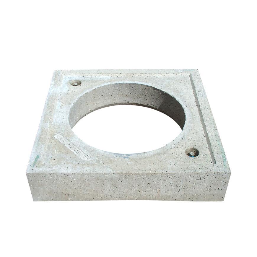 Fundatieplaat, beton, t.b.v. ronde putafdekking, voor schachtdiameter 630 mm, 900 x 900 x 120 mm  default 870x870