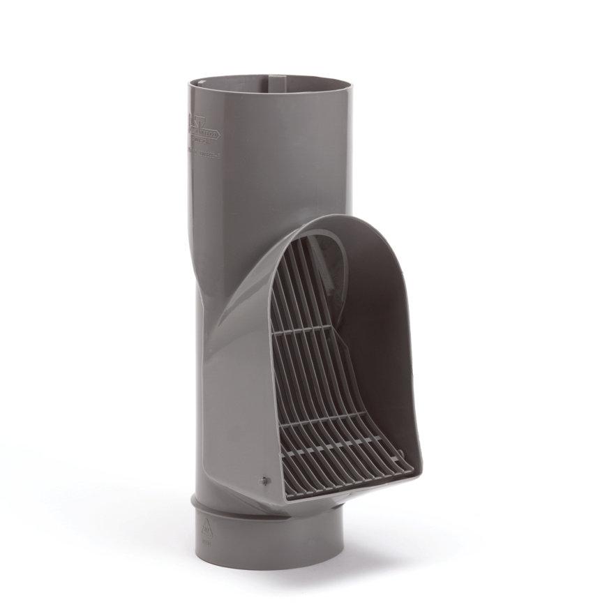 Fallrohr-Laubabscheider, PVC, für Standrohr, grau, 110mm