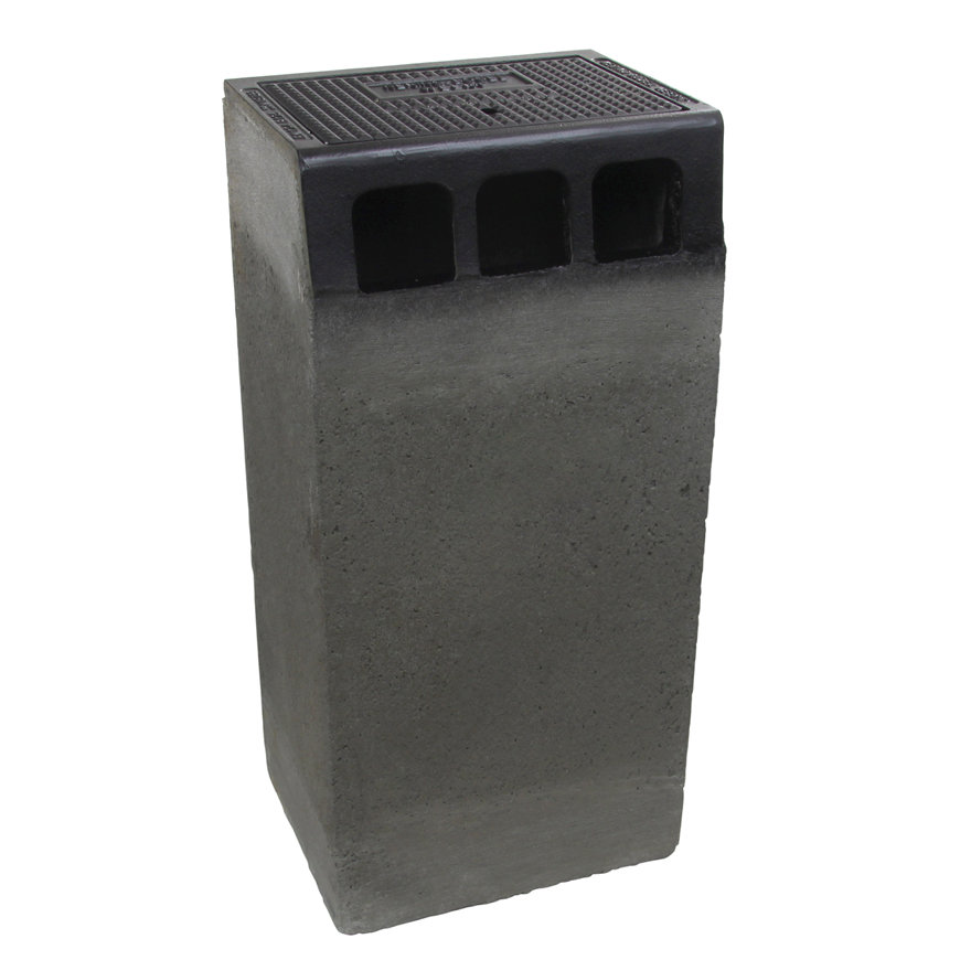 Gietijzeren trottoirkolk, inclusief onderbak, 1-delig, dichte deksel, G 127 LD / DN125, 450 x 350mm  default 870x870