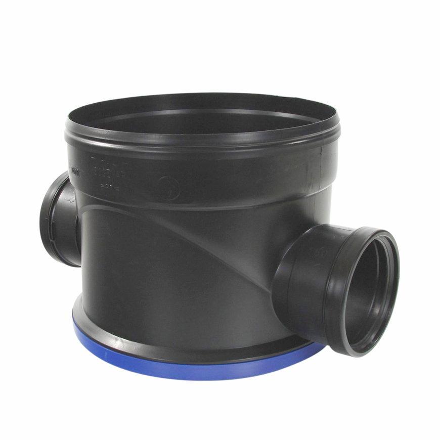 Pp controleput 400, 2x manchet, excl. deksel, 2x 160 mm, zwart  default 870x870