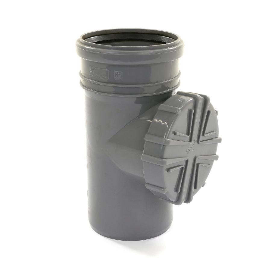 Karmat hwa bladscheider, voor standleiding, pp, grijs, 110 mm  default 870x870