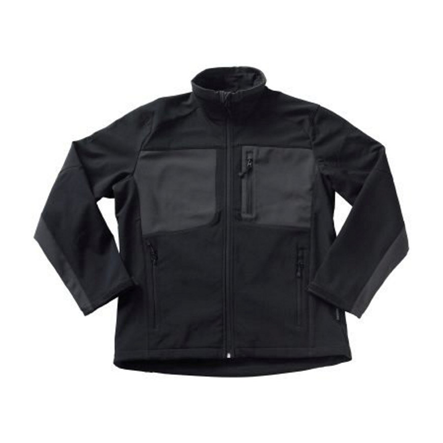 Mascot Lagos Softshell stretchjack, zwart/donker antraciet, maat L