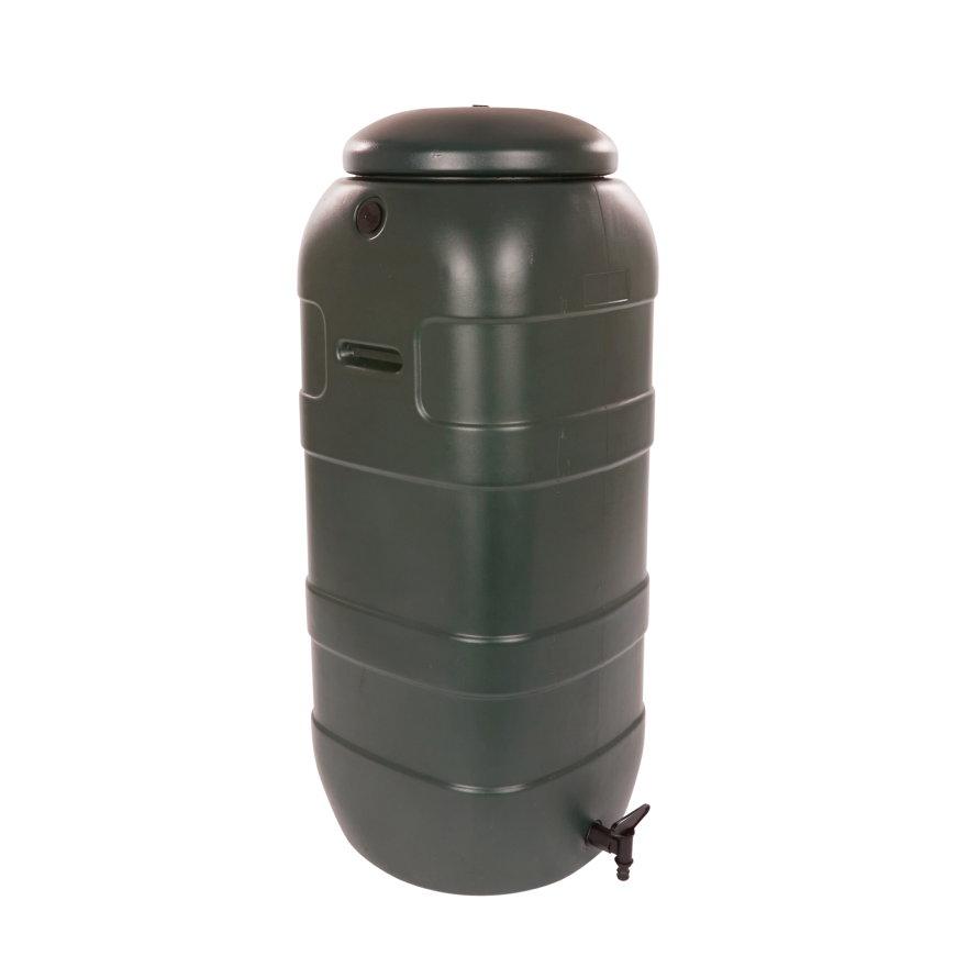 BeGreen mini regenton, pe, donkergroen, 100 liter, incl. kraan