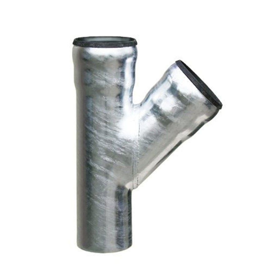 Loro-X T-stuk 45°, thermisch verzinkt staal, 100 mm  default 870x870