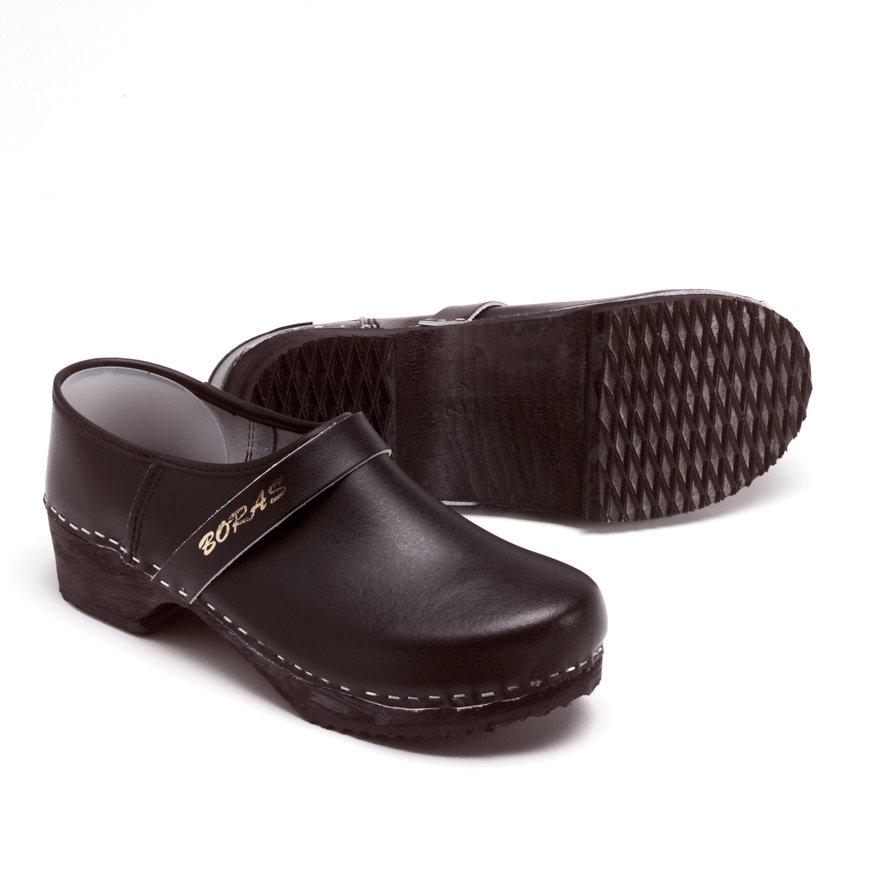 Svenvik schoenklompen met houten zool, maat 46, zwart