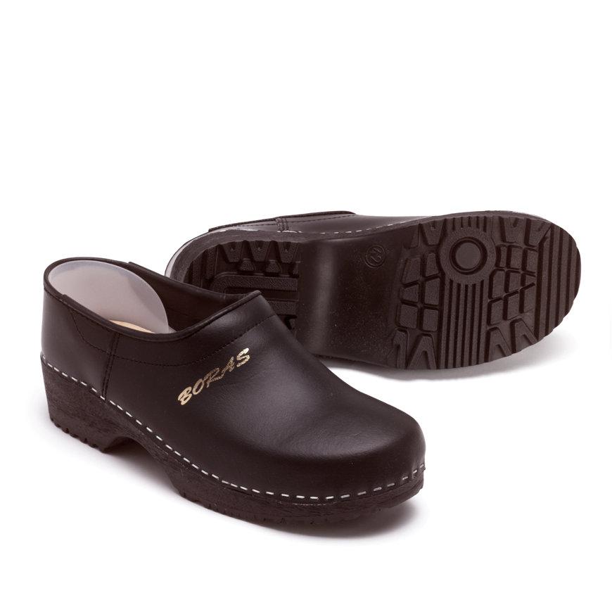 Svenvik schoenklompen met pu zool, maat 45, zwart