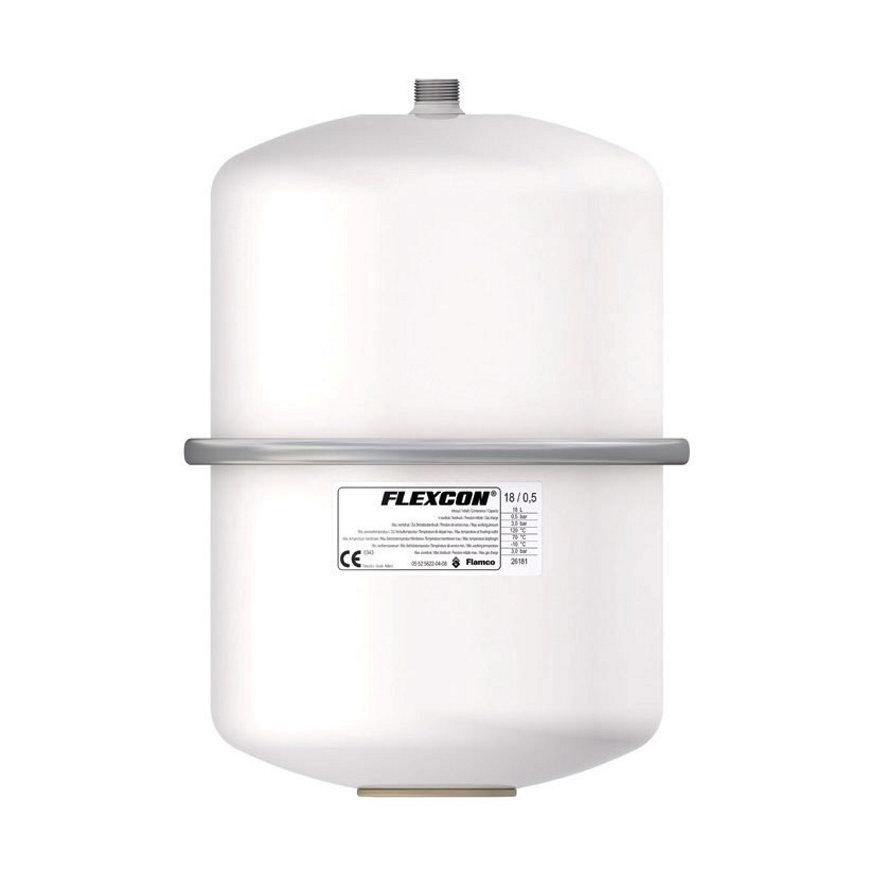 Flamco Flexcon expansievat, inhoud 18 liter, 1,0 bar, wit
