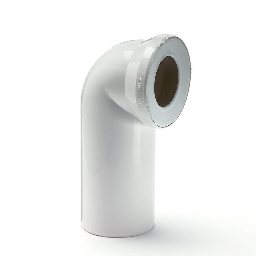 Viega afvoerbocht met manchet, wit, d = 110 mm, sprong 230 mm  default 870x870