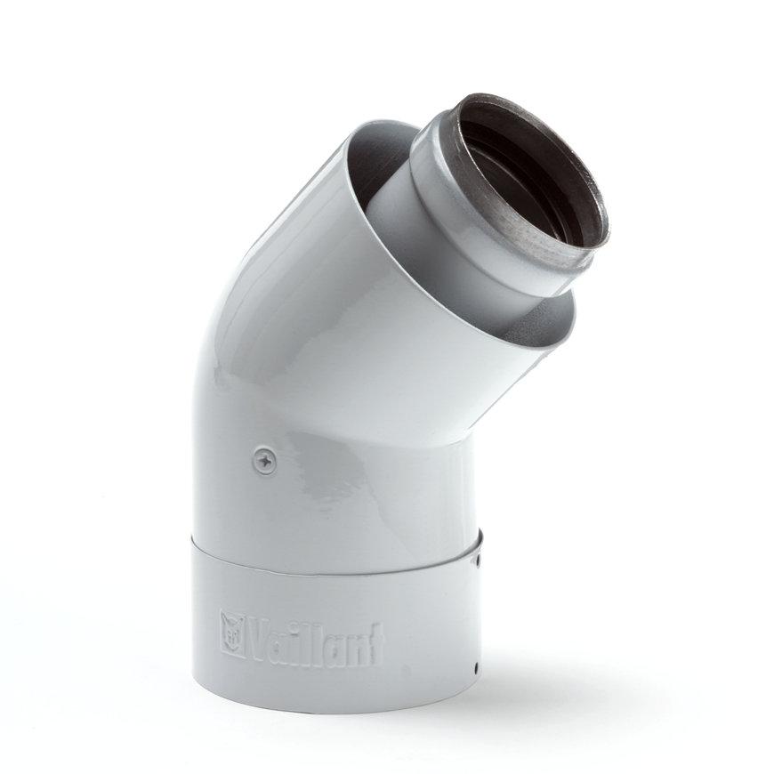 Vaillant geïsoleerde bocht 45°, concentrisch, 60/100 mm, set à 2 stuks  default 870x870