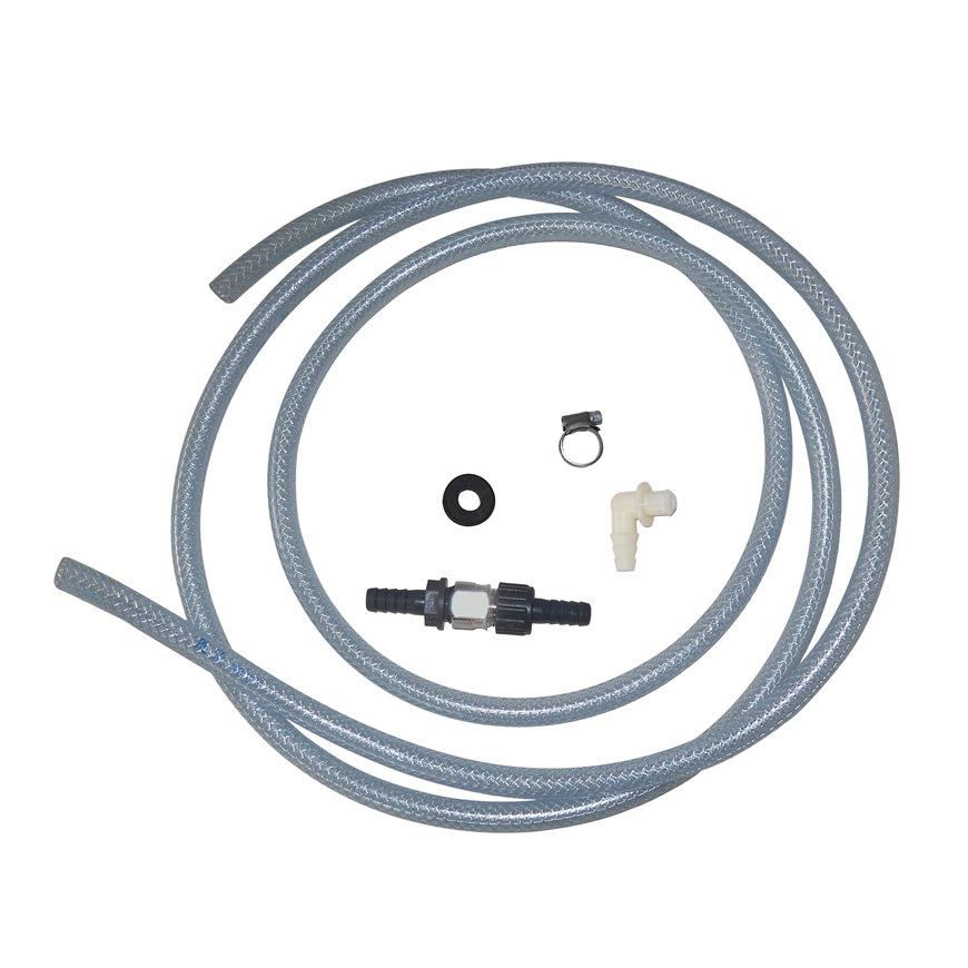 Afvoerset t.b.v. AquaStar-Pro waterontharder, incl keerklep, afvoerknie, 7 m slang,3 rvs slangklem  default 870x870